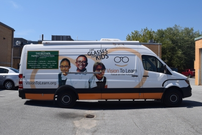 Vision to Learn has donated the use of its van to enable athletes to be in an office-like setting when being tested for new eye wear.