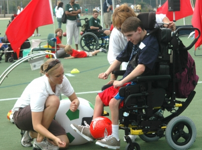 The Motor Activity Training Program ensures athletes of all abilities are able to successfully participate in Special Olympics.
